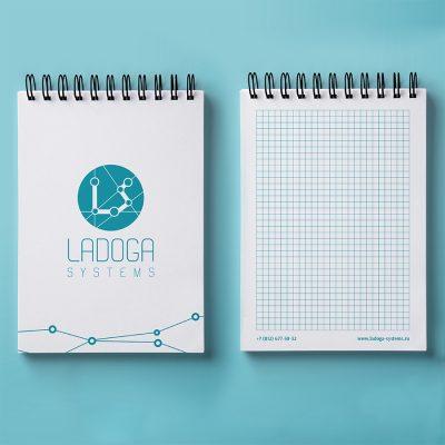 Дизайн блокнота для Ладога Системс