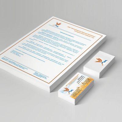фирменный бланк и визитка