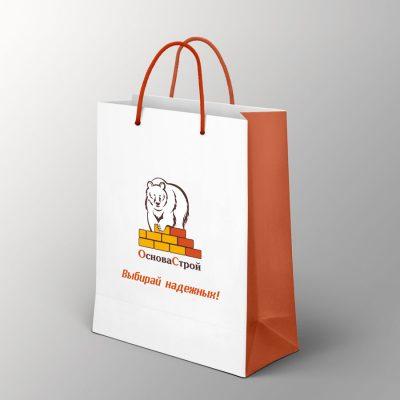 фирменный пакет с лого