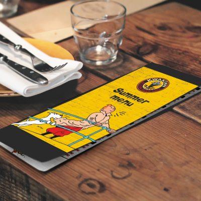 меню для ресторани пива
